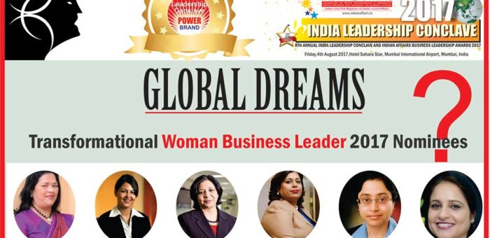 "Grace Pinto of Ryan International Group, Deepika Arora of Wyndham Hotel Group,Vanitha Narayanan of IBM India,Manisha Sood of Apple India,Sandhya Vasudevan of Deutsche Bank Group & Mansi Madan Tripathy of Shell Lubricants India in tight competition for the coveted ""Transformational Woman Business Leader 2017"" Award at Ilc Power Brand Awards"