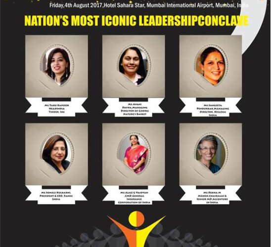 Rekha M Menon of Accenture India, Alice G Vaidyan of GIC, Sonali Kulkarni of Fanuc India, Sangeeta Pendurkar of Kellogg India, Avani Davda of Godrej Nature's Basket & Taru Kapoor,Head of Tinder are in race for Innovative Women CEO of the Year 2017 at India Leadership Conclave 2017