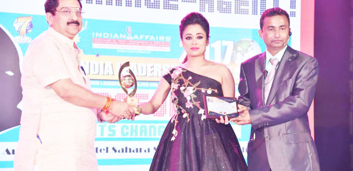 Innovative Fashion Designer Riya Kodali wins coveted Indian Affairs India's Most Promising Fashion Designer 2017 at the 8th Annual India Leadership Conclave 2017