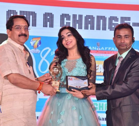 Vivacious & Emerging Actress Parvathy Nair crowned the prestigious Indian Affairs Most Promising Actress 2017 at ILC Power Brand Award 2017